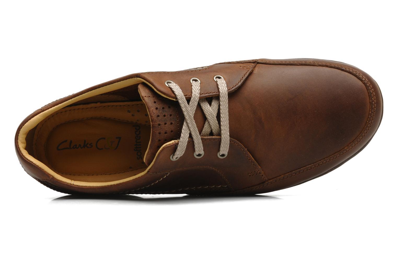 Snörade skor Clarks Recline Out Brun bild från vänster sidan
