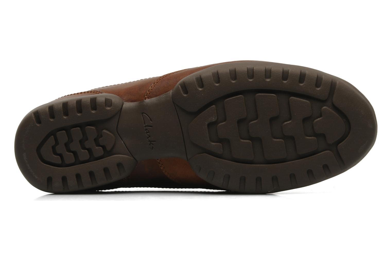 Snörade skor Clarks Recline Out Brun bild från ovan