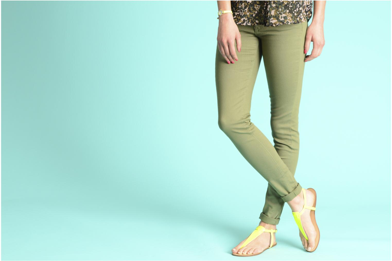 Sandales et nu-pieds Georgia Rose Lufluo Bleu vue bas / vue portée sac