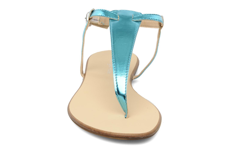 Sandales et nu-pieds Georgia Rose Lufluo Bleu vue portées chaussures