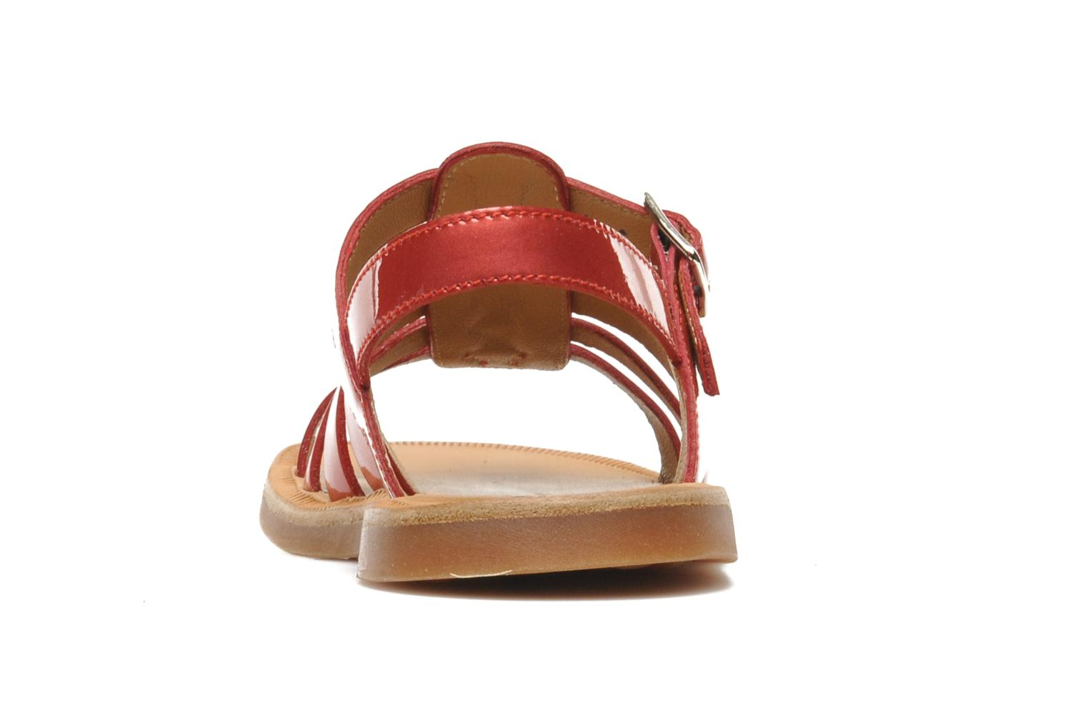 Sandals Pom d Api Plagette Strap Pink view from the right