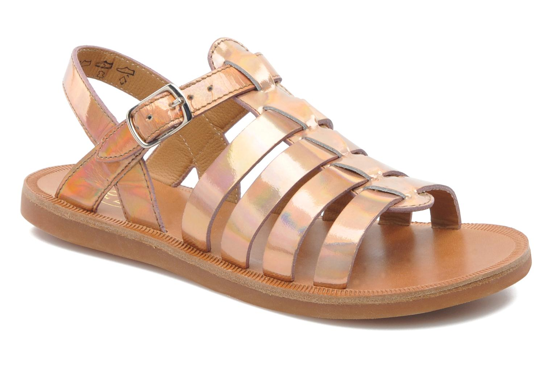 Sandales et nu-pieds Pom d Api Plagette Strap Rose vue détail/paire