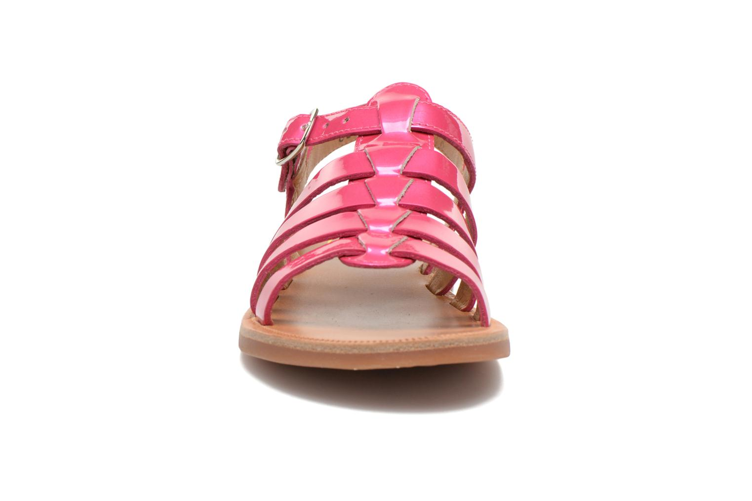Sandals Pom d Api Plagette Strap Pink model view