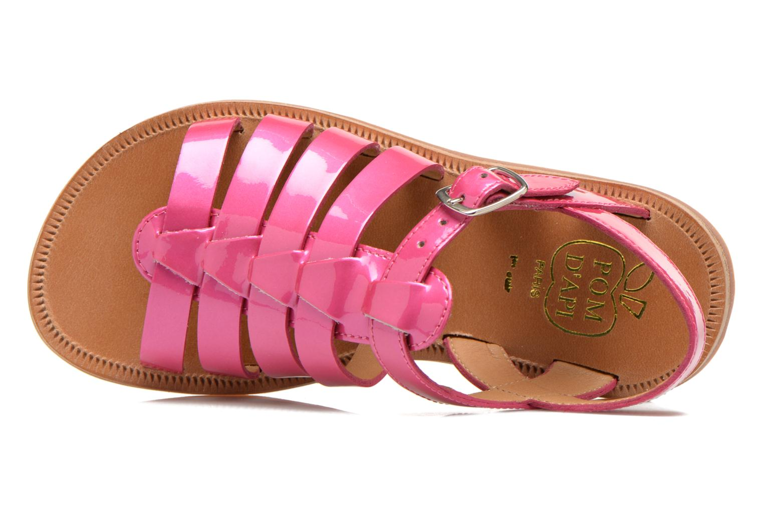 Sandals Pom d Api Plagette Strap Pink view from the left