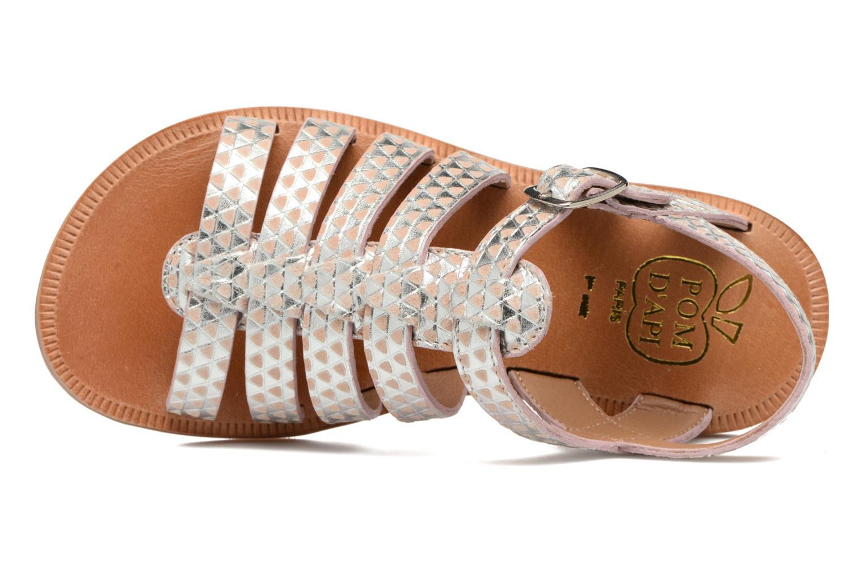 Sandales et nu-pieds Pom d Api Plagette Strap Argent vue gauche