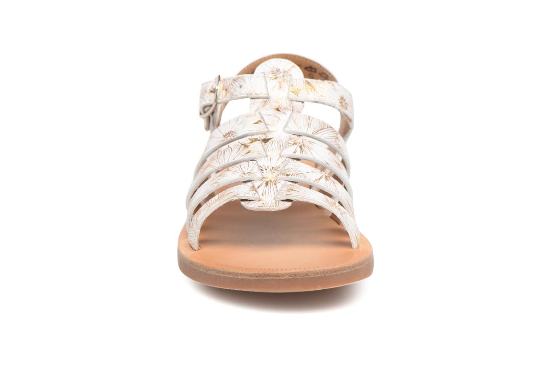 Sandales et nu-pieds Pom d Api Plagette Strap Blanc vue portées chaussures