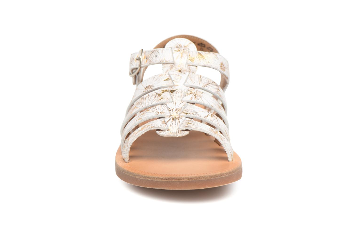 Sandals Pom d Api Plagette Strap White model view