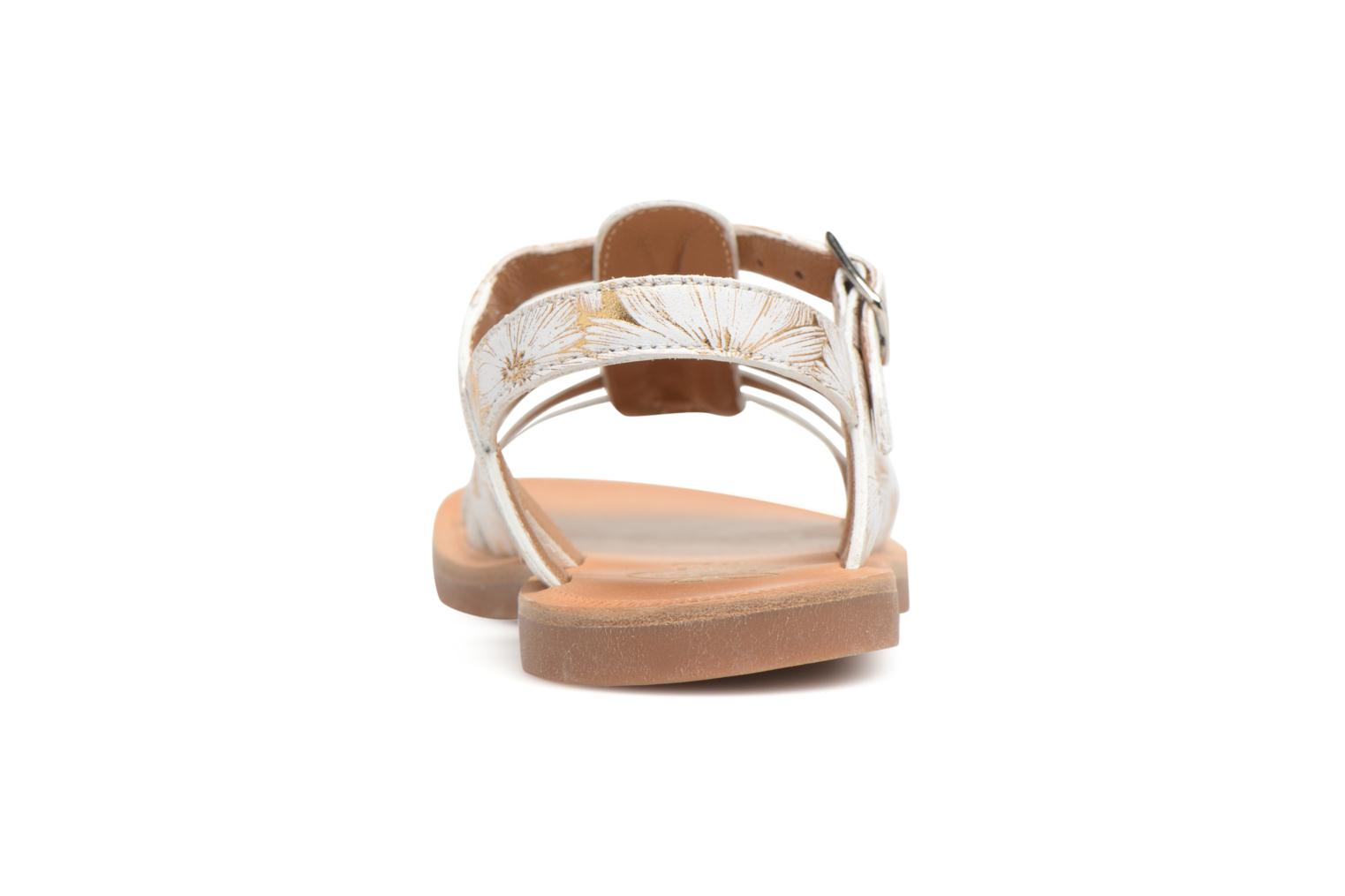 Sandals Pom d Api Plagette Strap White view from the right