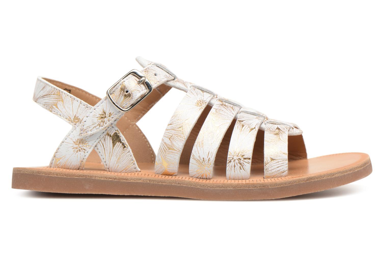 Sandales et nu-pieds Pom d Api Plagette Strap Blanc vue derrière