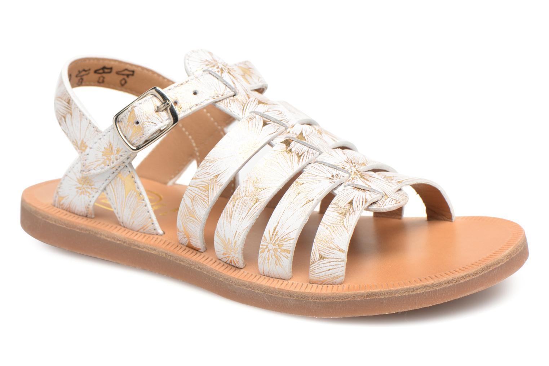 Sandales et nu-pieds Pom d Api Plagette Strap Blanc vue détail/paire