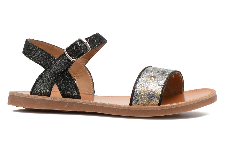 Sandales et nu-pieds Pom d Api Plagette Buckle Tao Noir vue derrière