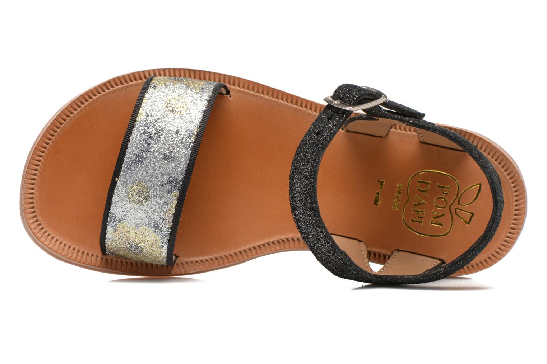 Sandales et nu-pieds Pom d Api Plagette Buckle Tao Noir vue gauche