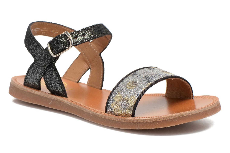 Sandales et nu-pieds Pom d Api Plagette Buckle Tao Noir vue détail/paire