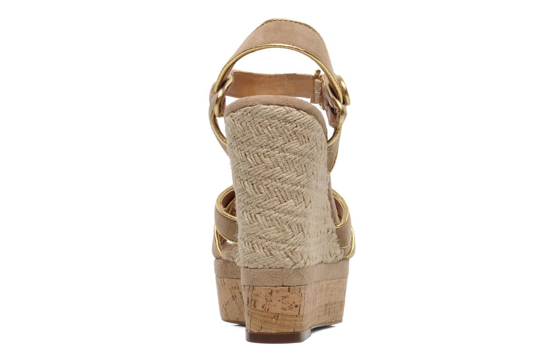 Sandales et nu-pieds Ash Grazia Bis Beige vue droite