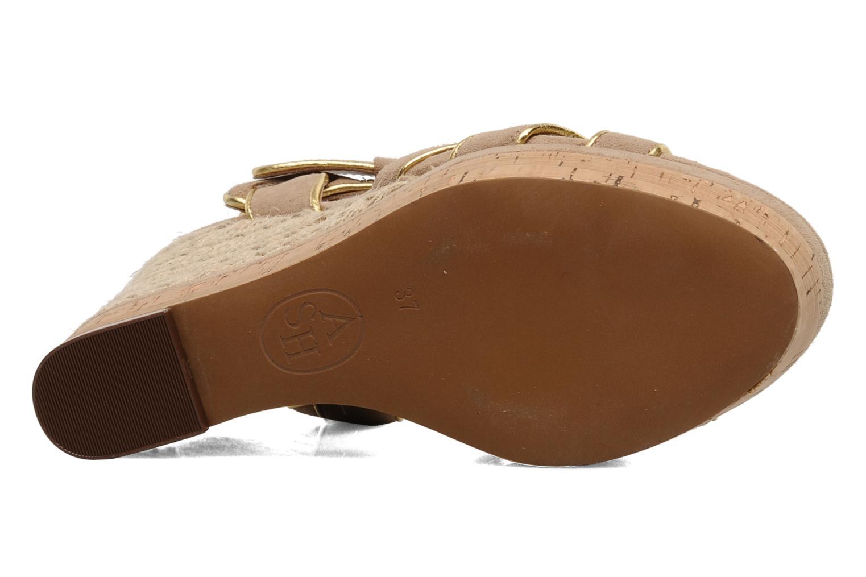 Sandales et nu-pieds Ash Grazia Bis Beige vue haut