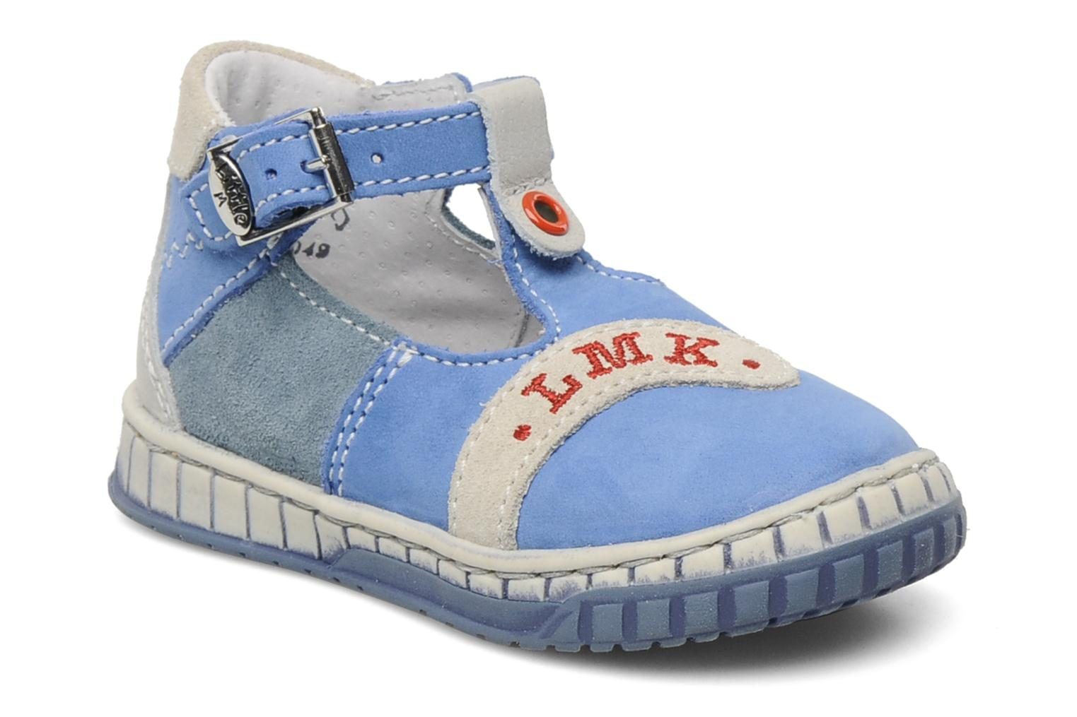 Summer boots Little Mary Marius Blue detailed view/ Pair view