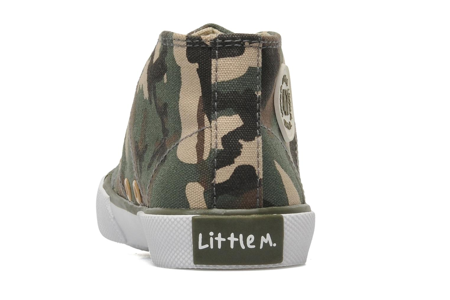 Deportivas Little Mary Little Basket Verde vista lateral derecha
