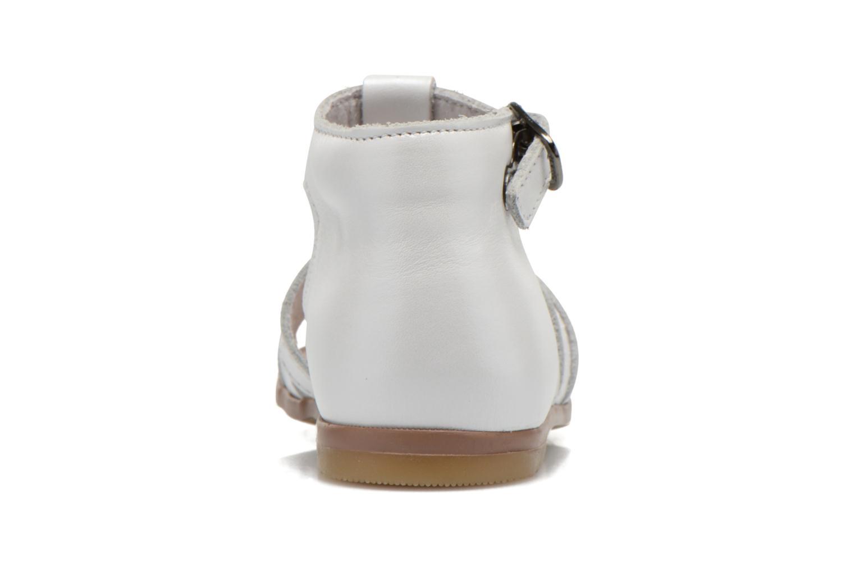 Sandales et nu-pieds Little Mary Hosmose Blanc vue droite