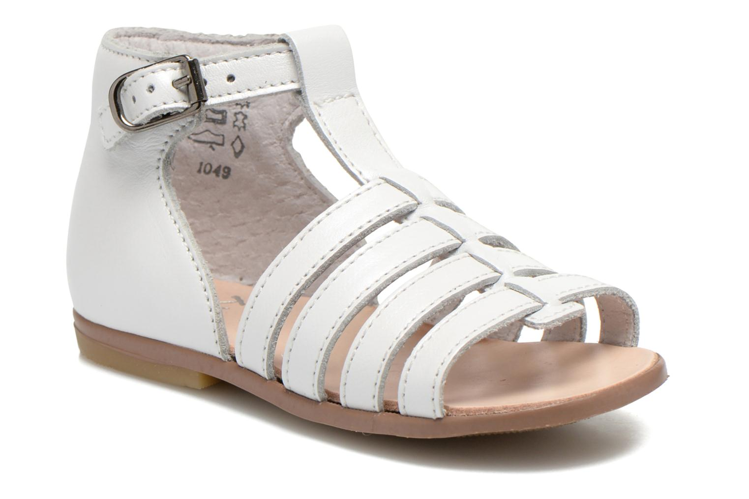 Sandals Little Mary Hosmose White detailed view/ Pair view