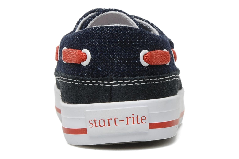 Chaussures à scratch Start Rite Ahoy Bleu vue droite