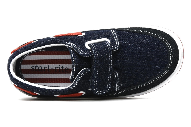 Chaussures à scratch Start Rite Ahoy Bleu vue gauche