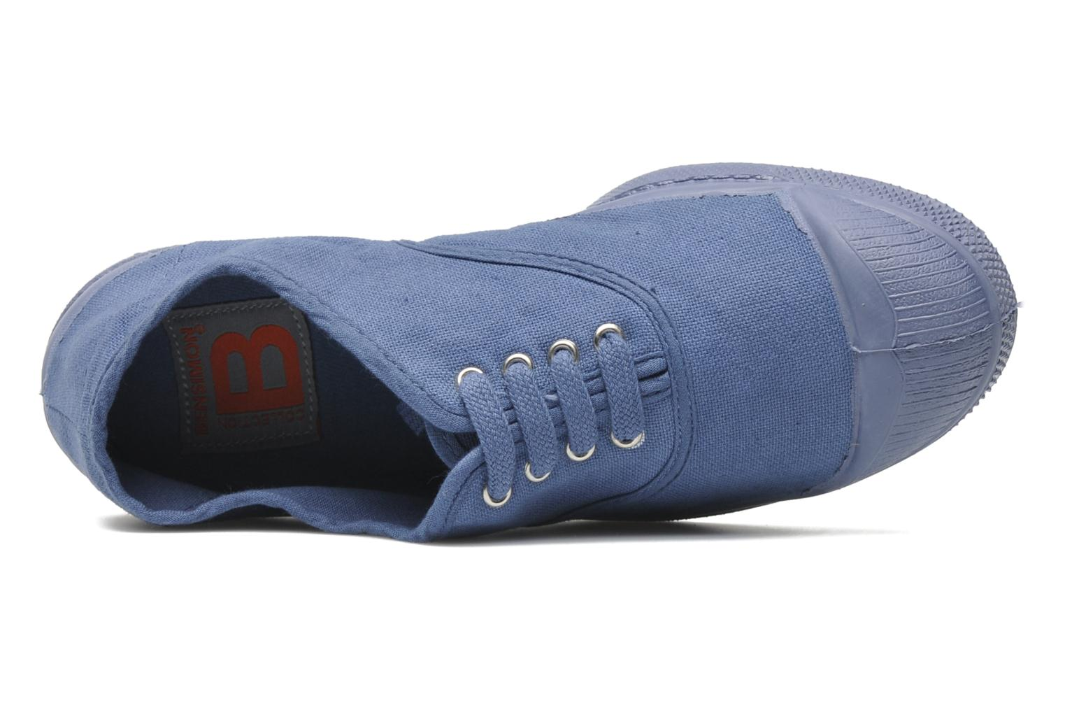 Trainers Bensimon Tennis Colorsole E Blue view from the left