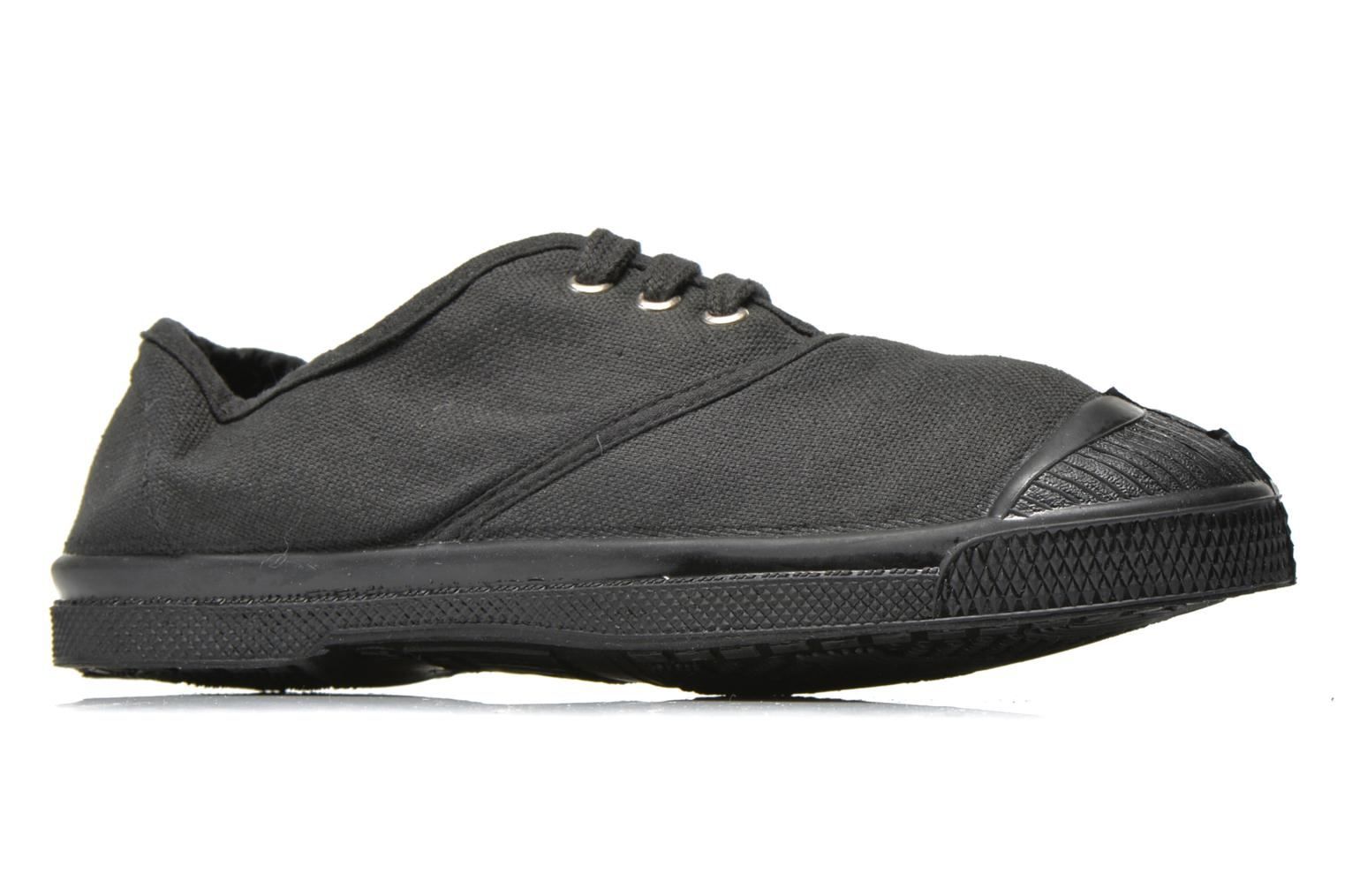 Trainers Bensimon Tennis Colorsole E Black back view