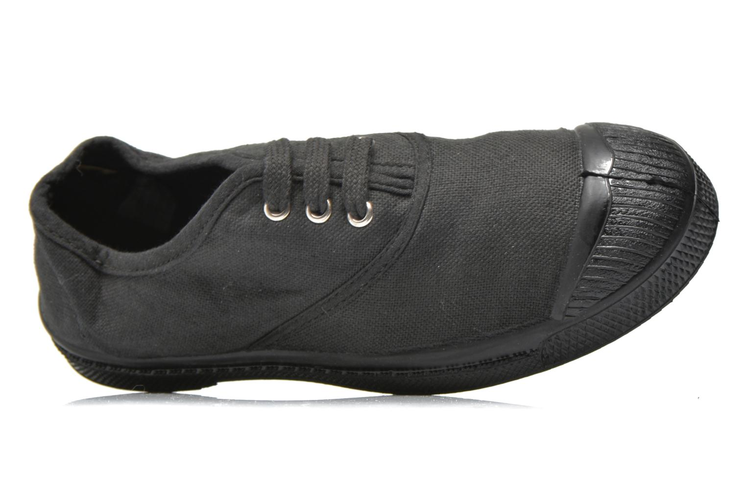 Trainers Bensimon Tennis Colorsole E Black view from the left