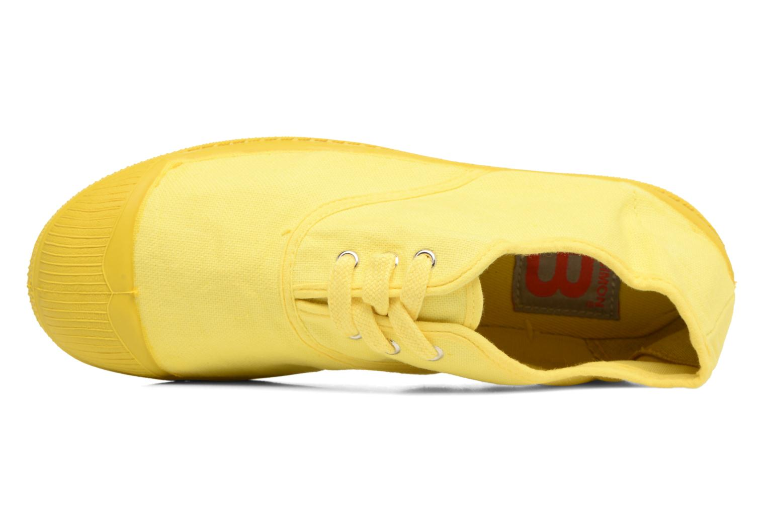 Trainers Bensimon Tennis Colorsole E Yellow view from the left
