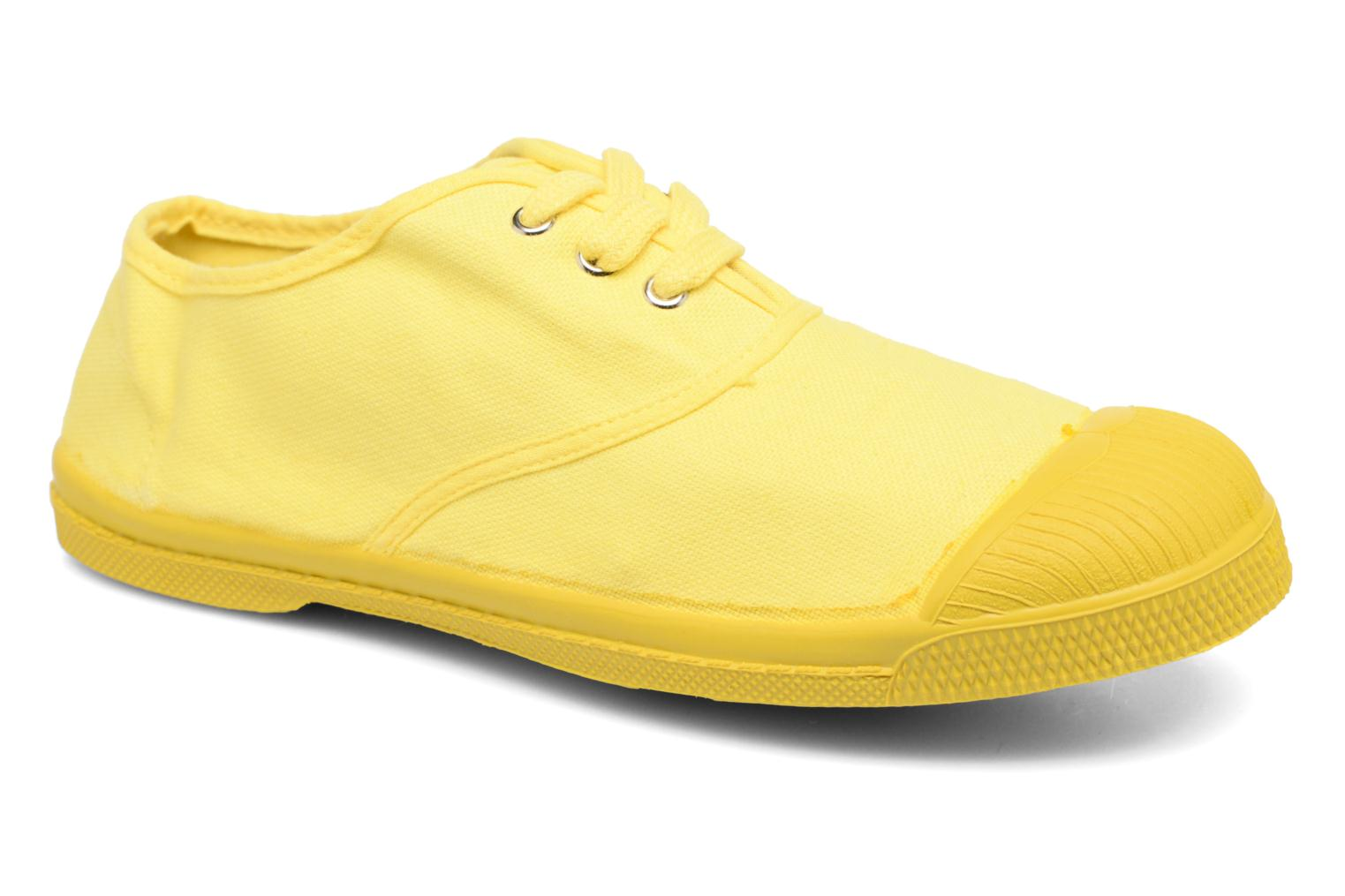 Trainers Bensimon Tennis Colorsole E Yellow detailed view/ Pair view