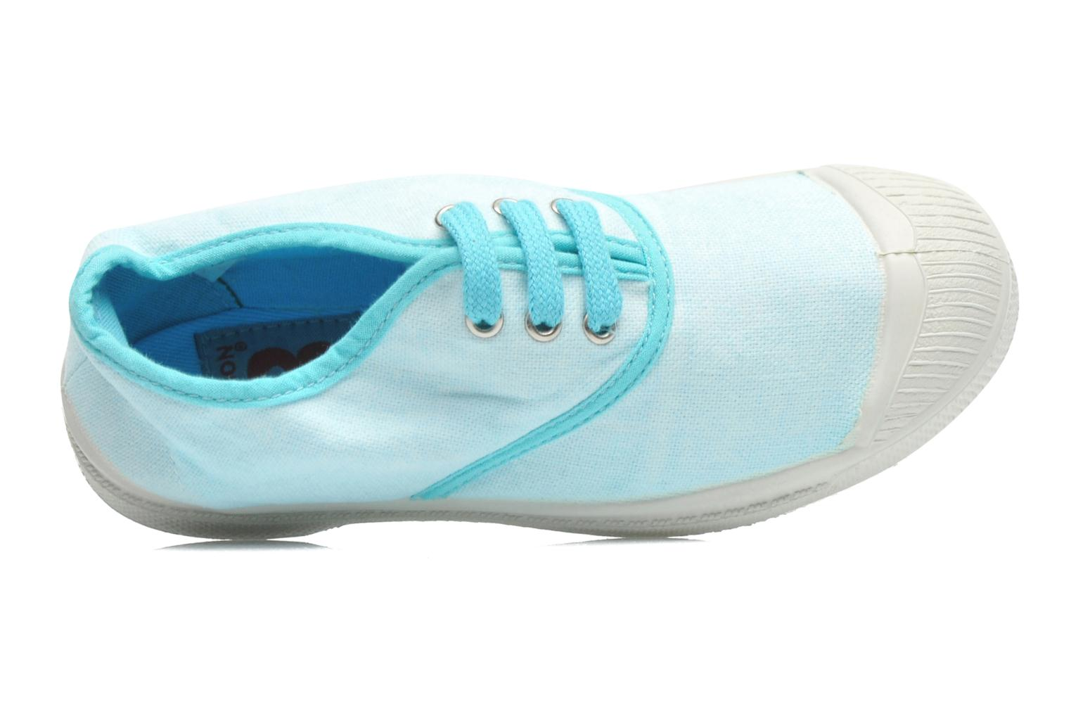 Trainers Bensimon Tennis Colorpiping E Blue view from the left