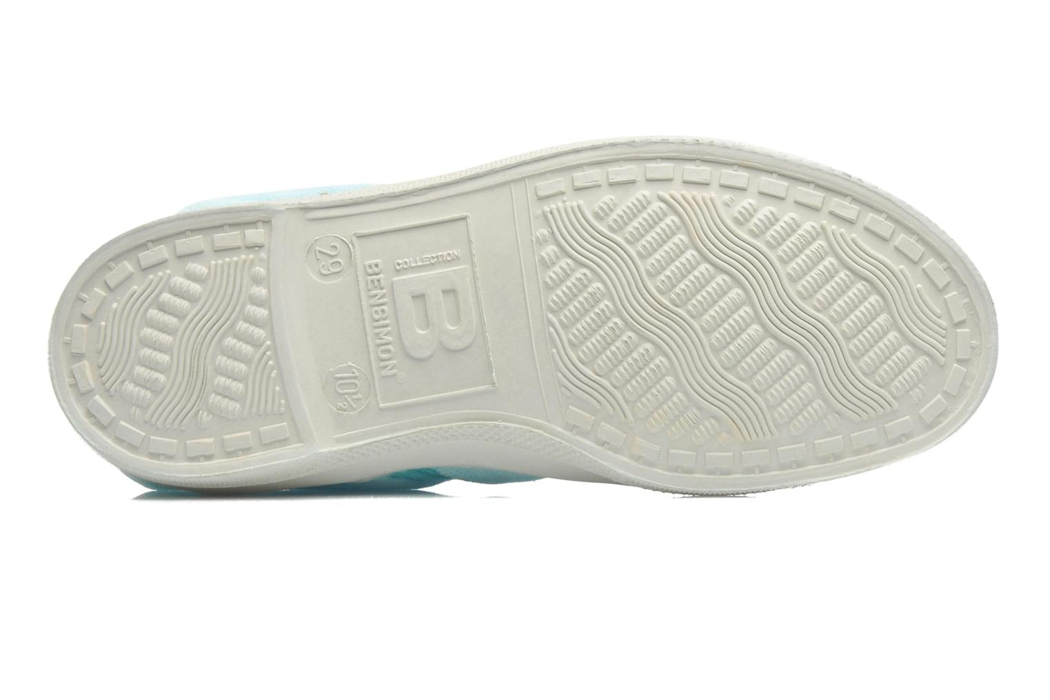 Trainers Bensimon Tennis Colorpiping E Blue view from above
