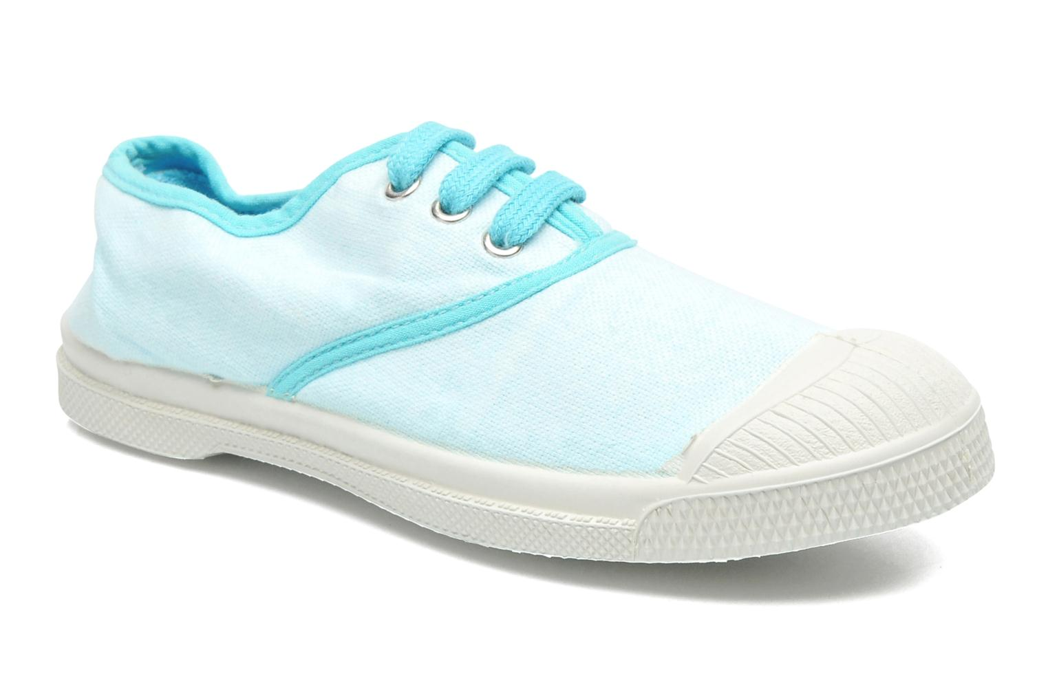Trainers Bensimon Tennis Colorpiping E Blue detailed view/ Pair view