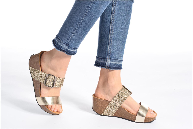 Clogs & Pantoletten Plakton So Rock gold/bronze ansicht von unten / tasche getragen