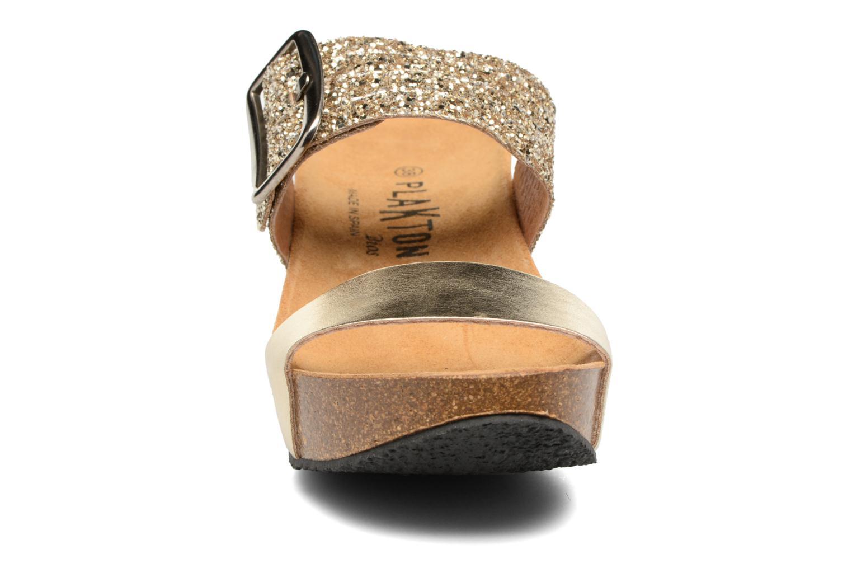 Mules & clogs Plakton So Rock Bronze and Gold model view