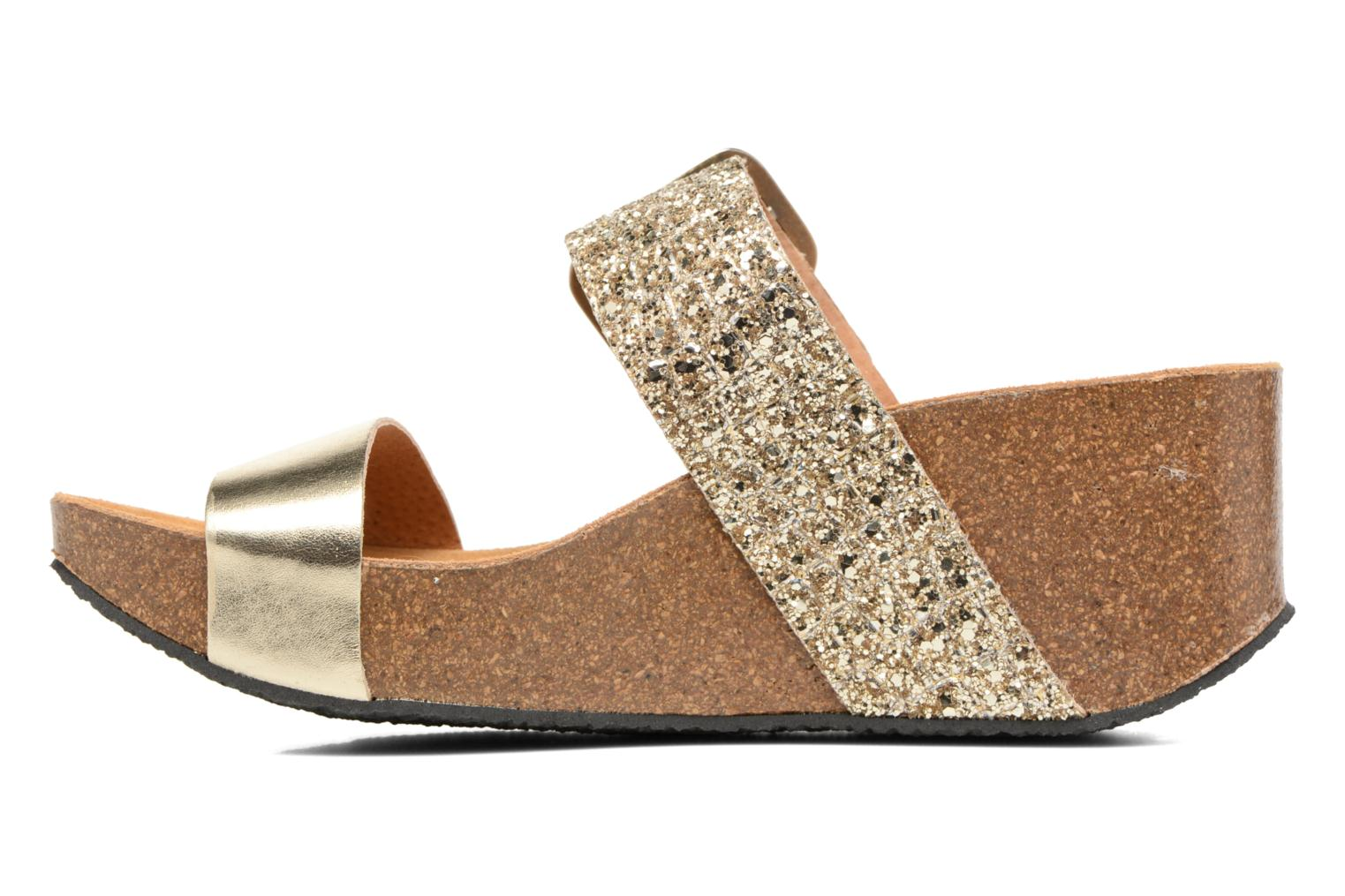 Mules & clogs Plakton So Rock Bronze and Gold front view