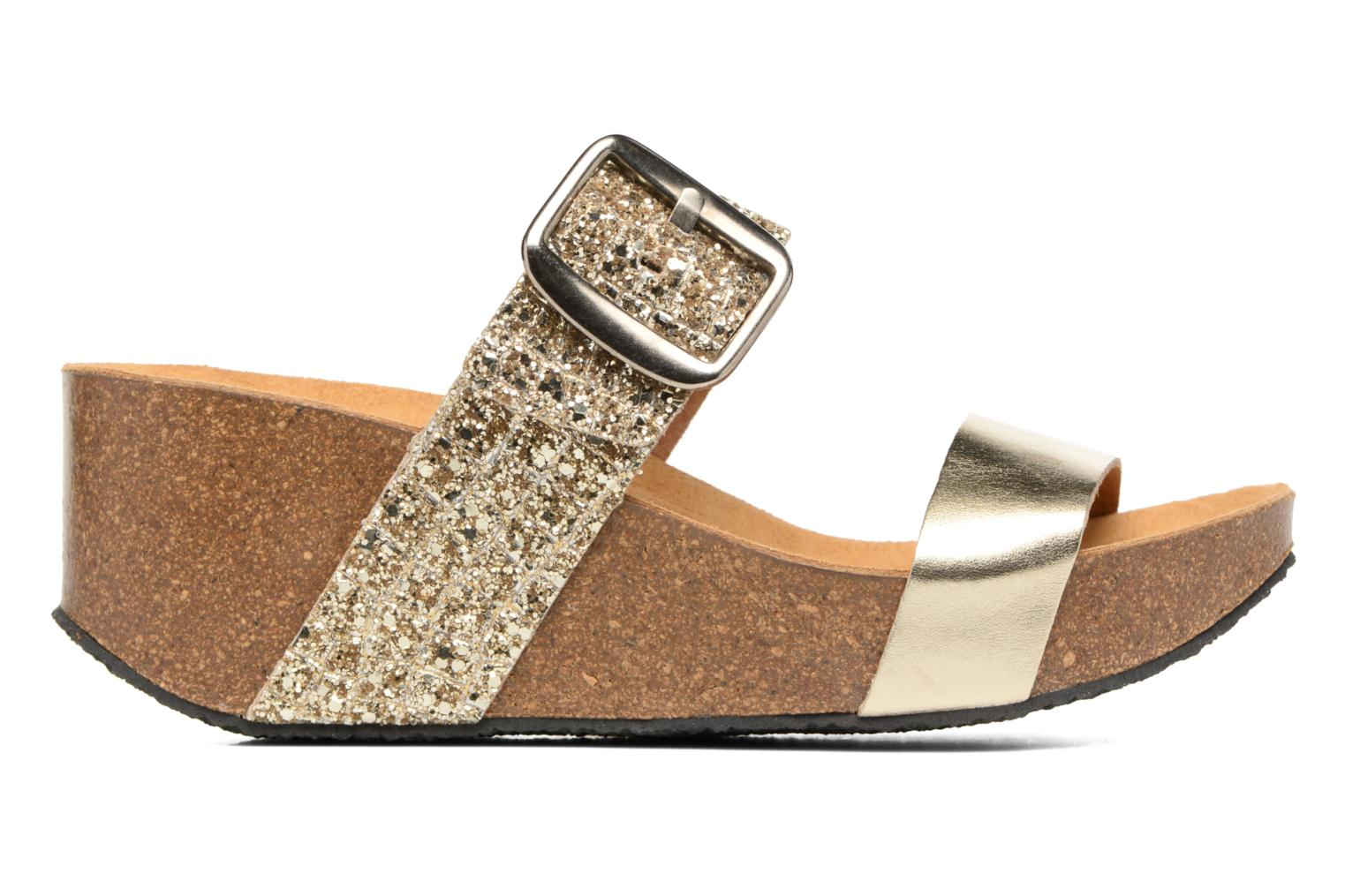 Mules & clogs Plakton So Rock Bronze and Gold back view