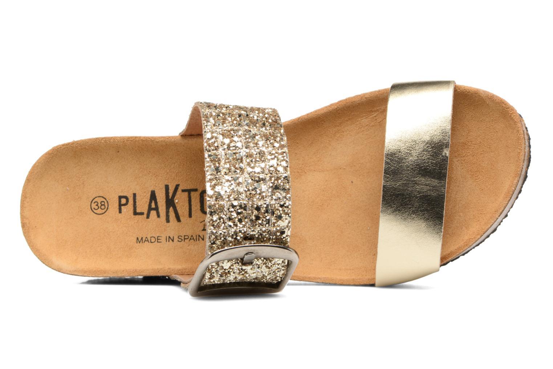 Clogs & Pantoletten Plakton So Rock gold/bronze ansicht von links