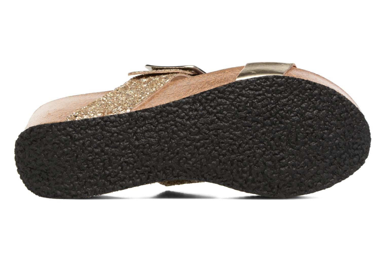 Clogs & Pantoletten Plakton So Rock gold/bronze ansicht von oben