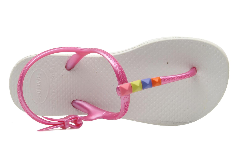 Sandales et nu-pieds Havaianas Kids Freedom Blanc vue gauche