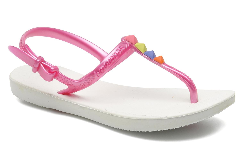 Sandales et nu-pieds Havaianas Kids Freedom Blanc vue détail/paire