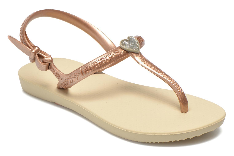 Sandales et nu-pieds Havaianas Kids Freedom Beige vue détail/paire