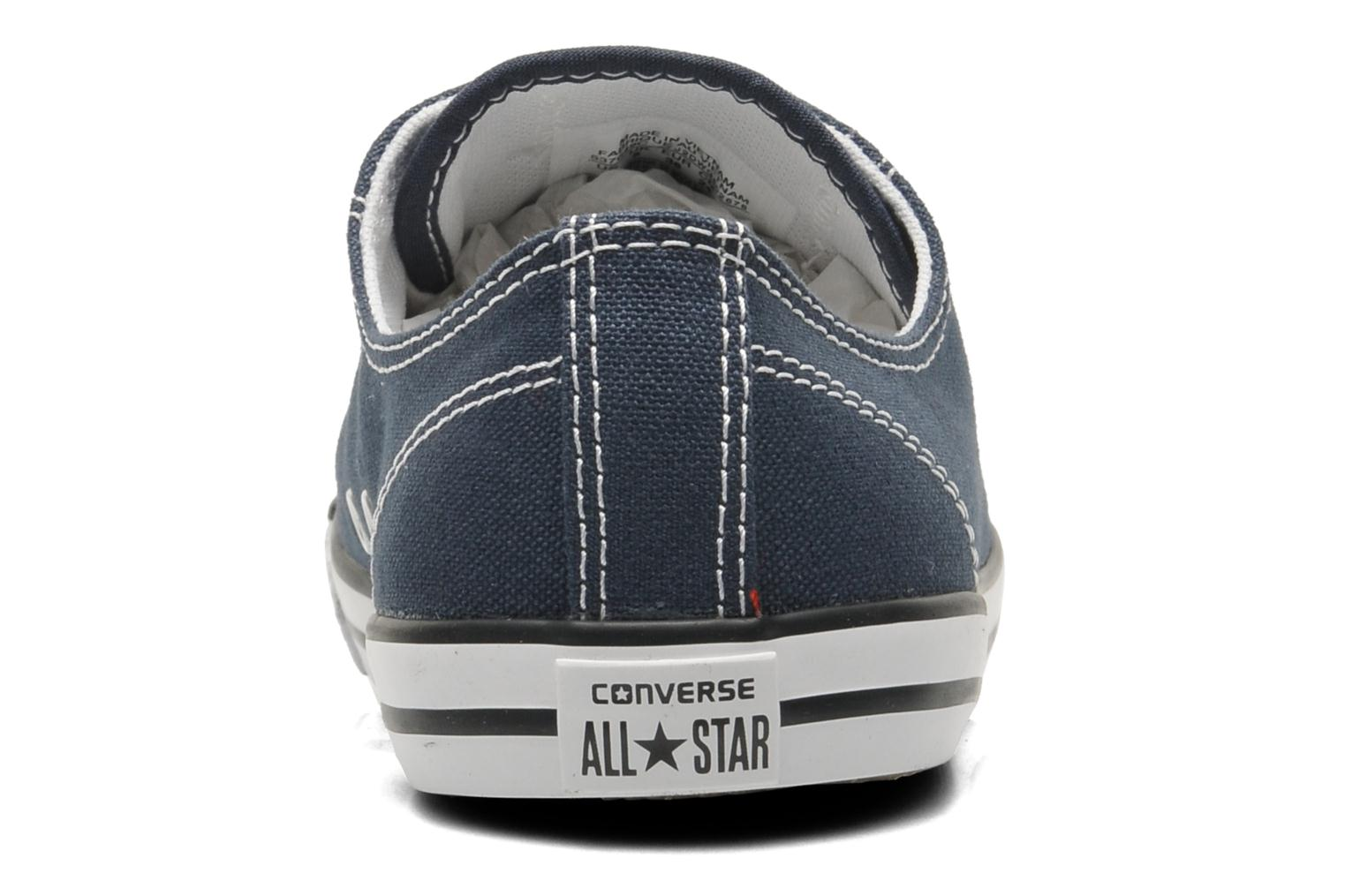Baskets Converse All Star Dainty Canvas Ox W Bleu vue droite