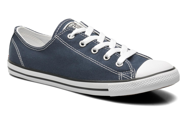 Sneakers Converse All Star Dainty Canvas Ox W Blå detaljerad bild på paret