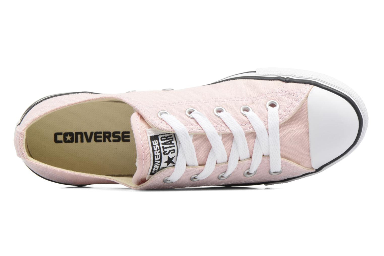 Pale Coral/White/Black Converse All Star Dainty Canvas Ox W (Rose)