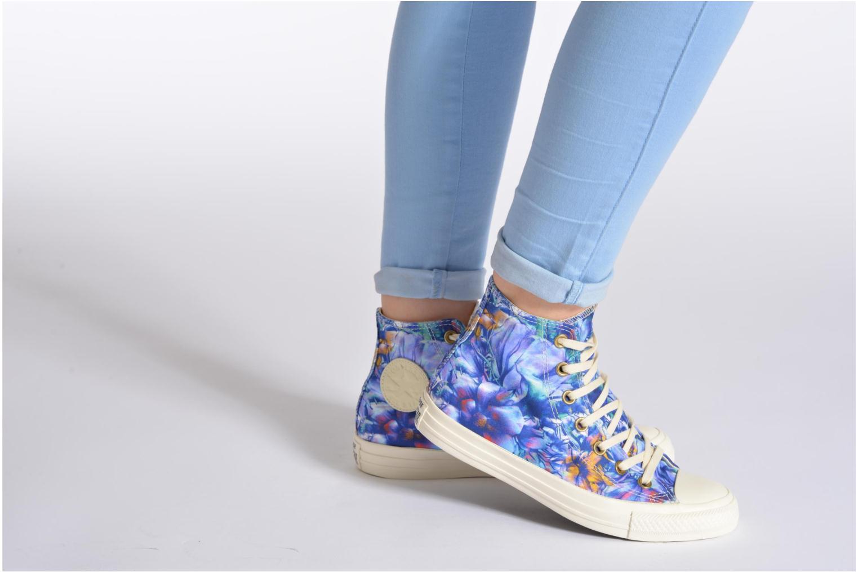 Sneaker Converse Chuck Taylor All Star Floral Print Hi W mehrfarbig ansicht von unten / tasche getragen