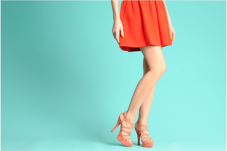 Sandales et nu-pieds Pura Lopez Marika Rose vue bas / vue portée sac