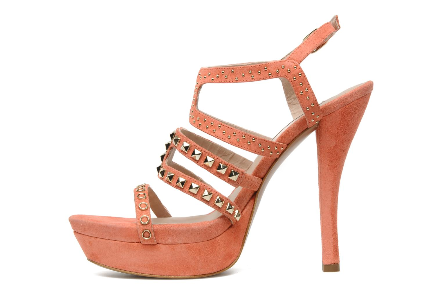 Sandals Pura Lopez Marika Pink front view