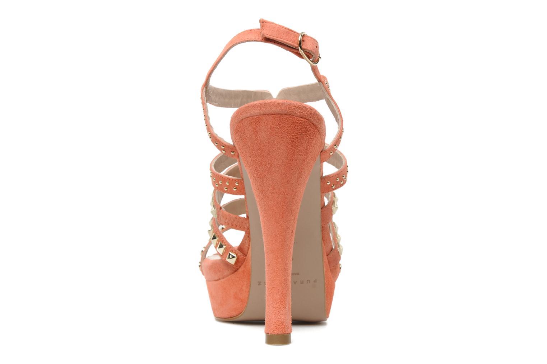 Sandales et nu-pieds Pura Lopez Marika Rose vue droite