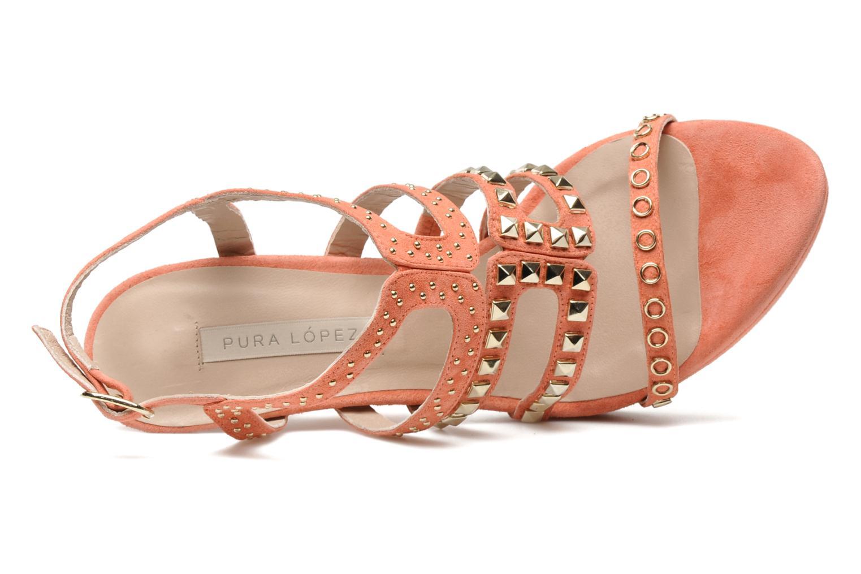 Sandali e scarpe aperte Pura Lopez Marika Rosa immagine sinistra